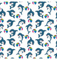 dolphin pattern vector image vector image