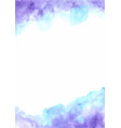 fairy tale cloud sky watercolor hand painting vector image