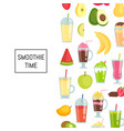 flat smoothie elements background banner vector image vector image