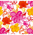 floral blossom hand drawn seamless pattern vector image vector image