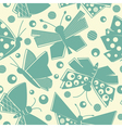 Flying butterflies seamless pattern vector image