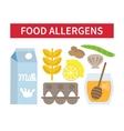 Food allergies set vector image