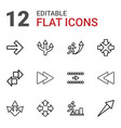forward icons vector image vector image