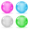 glass balls set of 3d shiny sheres isolated on vector image vector image
