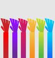 group handshake people hands icon vector image vector image