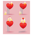 Human Symbol Love Story with Ladder vector image vector image