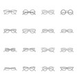 isolated object of glasses and frame symbol vector image
