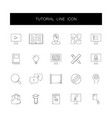 line icons set tutorial pack vector image vector image