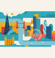 london city vector image