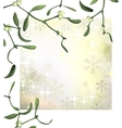 luxury christmas background with mistletoe vector image