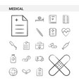 medical hand drawn icon set style isolated on vector image vector image