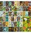 Mega set of vertical cards with floral design vector image vector image