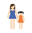 mother and daughter family members vector image