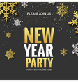 New Year party invitation poster design Retro gold vector image vector image