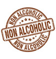 non alcoholic brown grunge stamp vector image vector image
