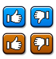 pixel thumb up and down buttons vector image vector image