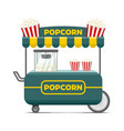 popcorn street food cart colorful image vector image vector image