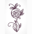rose stylized flower bouquet hand drawing vector image