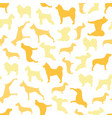 seamless pattern of color dogs vector image vector image