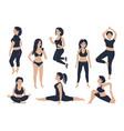 set beautiful fit girls vector image vector image
