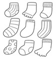 set of socks vector image