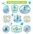 Set of water drops label vector image vector image