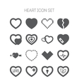 set simple icons with heart for valentine day vector image vector image