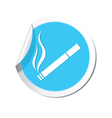 smoking BLUE LABEL vector image