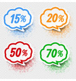 speech bubble collection with percent transparent vector image vector image