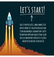 Startup concept with rocket launch vector image vector image