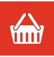 The basket shoping icon Shop Basket symbol Flat vector image