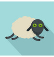 tired sheep icon flat style vector image