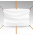 white banner with ropes realistic clear vector image