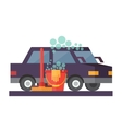 Car service Hand wash and transport cleaning vector image