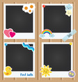 realistic photo frames for children vector image