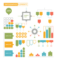 set of infographic elements vector image
