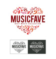 Music Fave Logo vector image