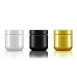 3d blank cosmetic jar for cream isolated