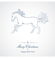 a horse - symbol new 2014 year vector image vector image