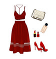 a set of summer outfit collection with vector image vector image
