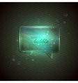 abstract green background with glass transparent vector image vector image