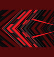 abstract red black arrow geometric direction on vector image vector image