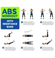 Aerobic icons Abs workout vector image vector image