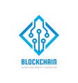 blockchain - concept business logo template vector image vector image