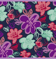 botanical color seamless pattern vector image