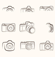 Camera Outline vector image vector image