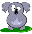 Cartoon Of Cute Gray Koala Bear vector image vector image