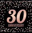 celebrating 30 anniversary emblem template design vector image