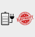 charge battery icon and grunge electricity vector image vector image