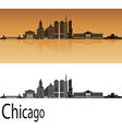 Chicago skyline in orange vector image vector image